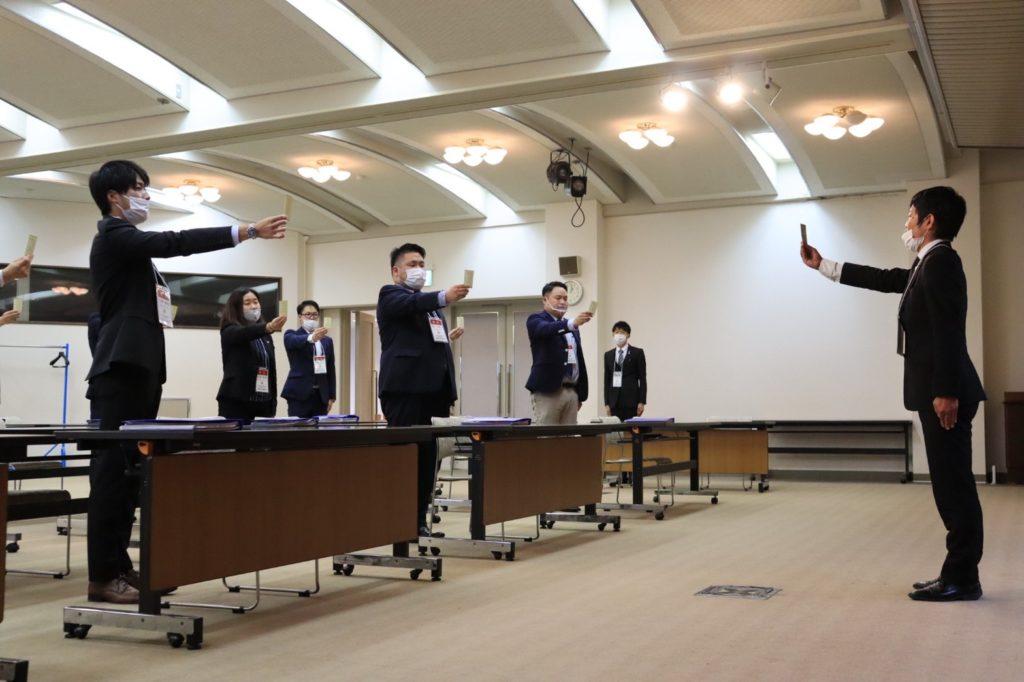 石川県後継者倫理塾の開校式です